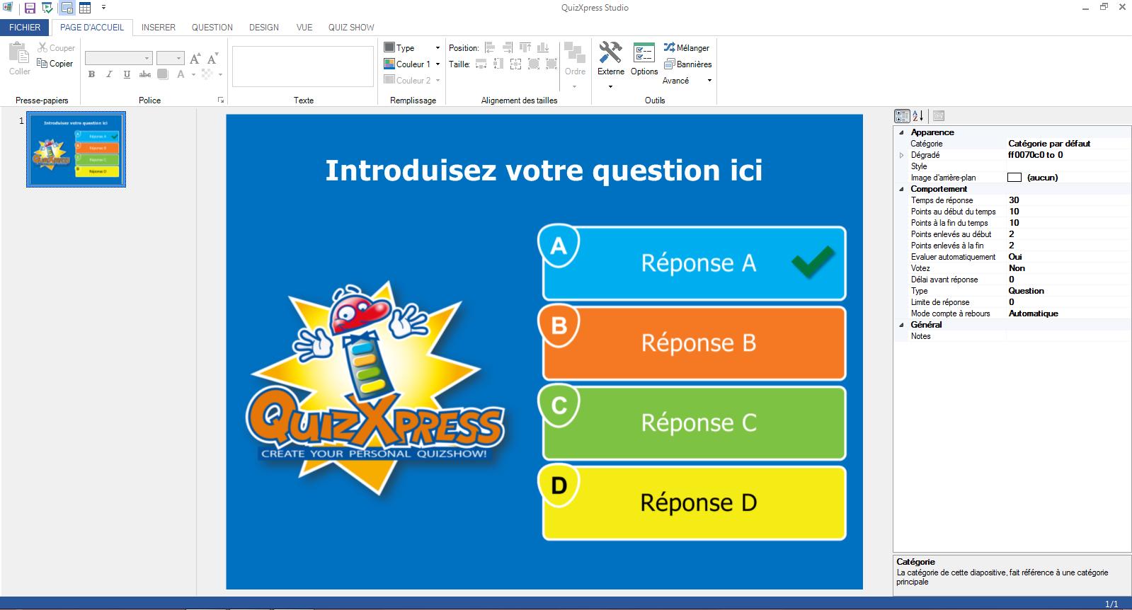 création quizz français en ligne gratuit